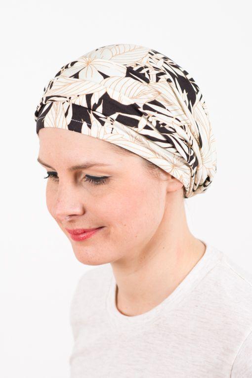 Foudre - Bandeau pour pelade, alopécie & chimiothérapie à fleurs Moorea