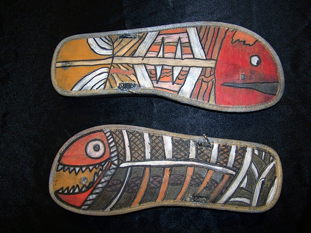 Flip Flop Fish. Art lesson that incorporates recycling while looking at Aboriginal Art. Links to Science too!