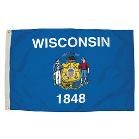 5-Ft W X 3-Ft H State Wisconsin Flag 2482051