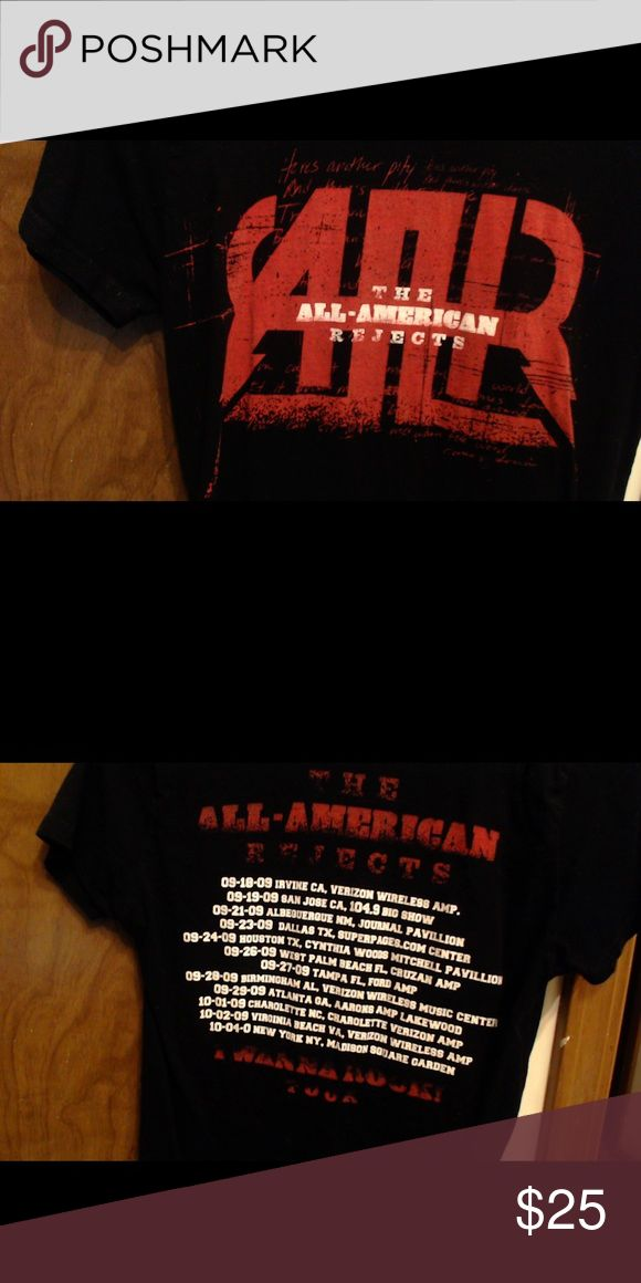 All American Rejects Tour Tee Red and black AAR tour tshirt Tops Tees - Short Sleeve