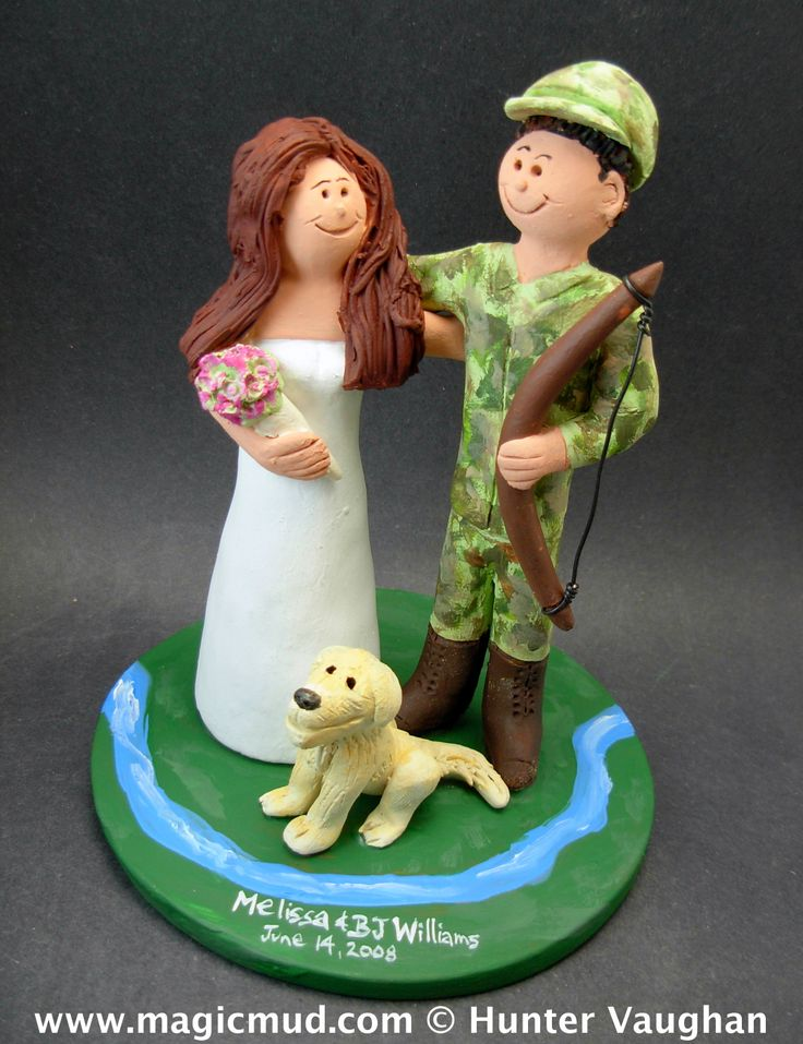 69 Best Images About Hunting Wedding Cake Toppers On