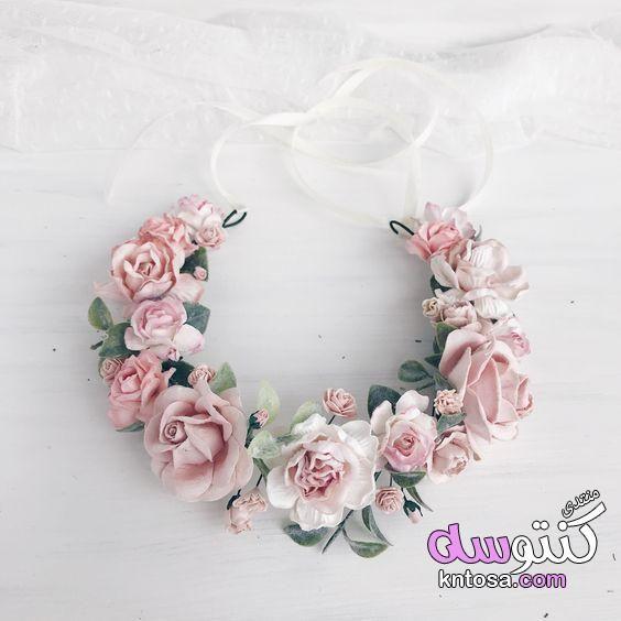 صور طوق شعر العروسه 2019 تاج ورد للعروس طوق ورد للشعر انستقرام طوق ورد ابيض طوق ورد للمحجبات 2019 Knt Pink Flower Crown Pink Floral Crowns Flower Crown Wedding