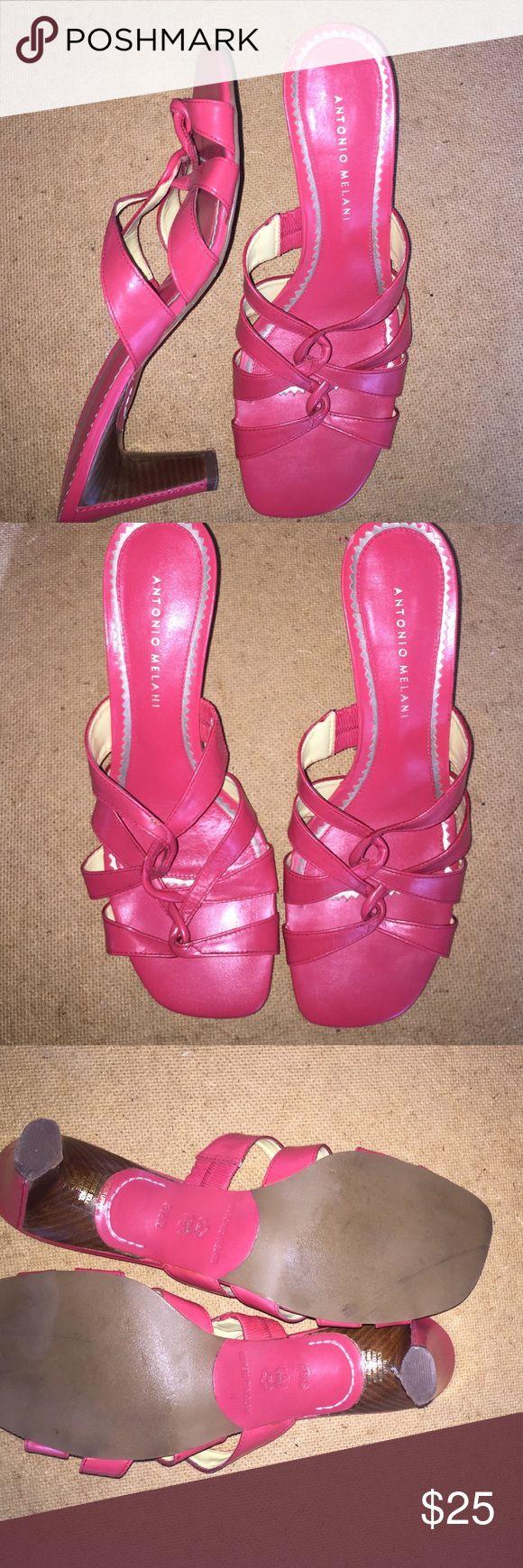"Antonio Melani 2"" heel strape coral sandals Antonio Melani coral sandals 2"" heels, worn once, will consider offers ANTONIO MELANI Shoes Sandals"