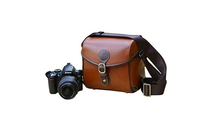 iRunzo Inc.: Vintage Look Britpop DSLR Waterproof Camera Bag for Canon Nikon Sony
