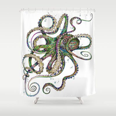 Octopsychedelia+Shower+Curtain+by+TAOJB+-+$68.00