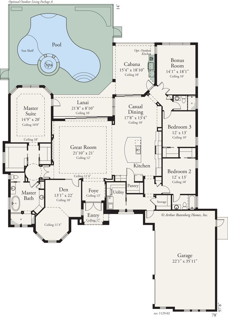 1000 ideas about house plans with pool on pinterest u for Outdoor floor plan