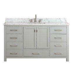 Modero Chilled Gray 60 Inch Double Vanity Only Vanities Bathroom Vanities Bathroom Furnit
