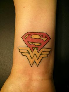 superman and wonder woman tattoo - Google Search