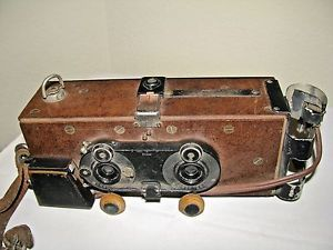 "Antique Stereo Camera Voigtlander Lens Homemade BY THE MFG OF ""Contura"" Camera 