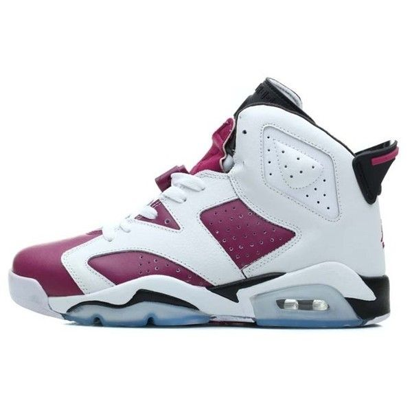 b6ce7c935aae1d Nike Air Jordan VI 6 Retro Womens Shoes White Purple New ( 111) ❤ liked on  Polyvore featuring shoes
