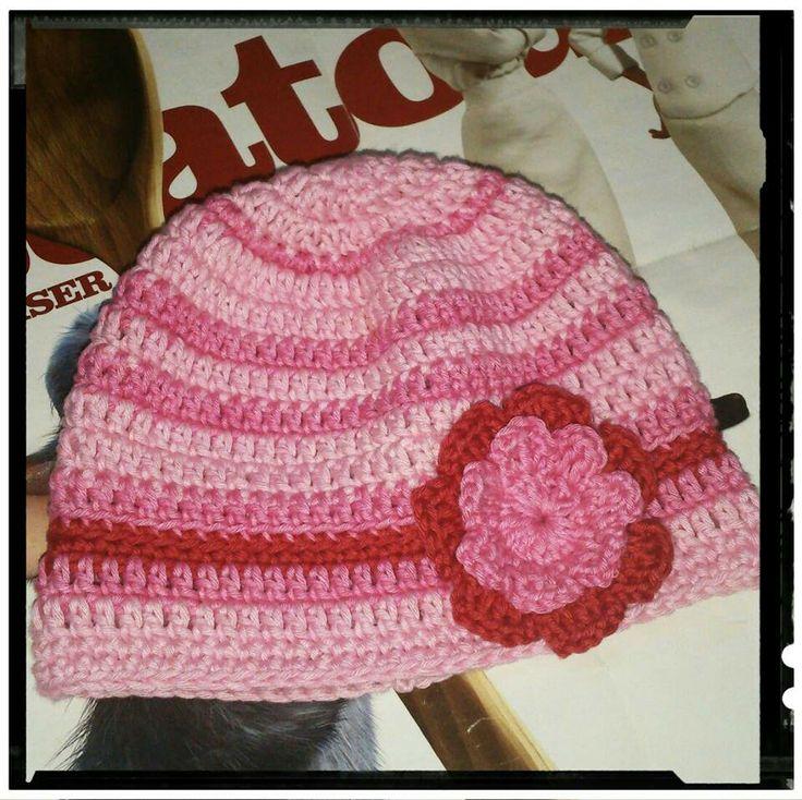 Baby Pink Hat Crochet.