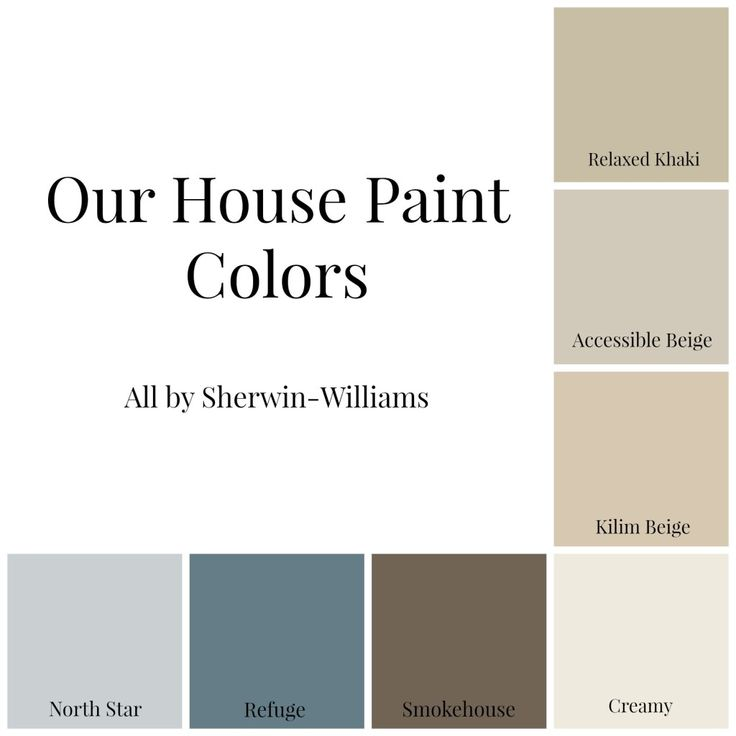 Our House Paint Colors all by Sherwin-Williams.  Love them all!!!  I'm sure I'll add more along the way. - Domestic Charm