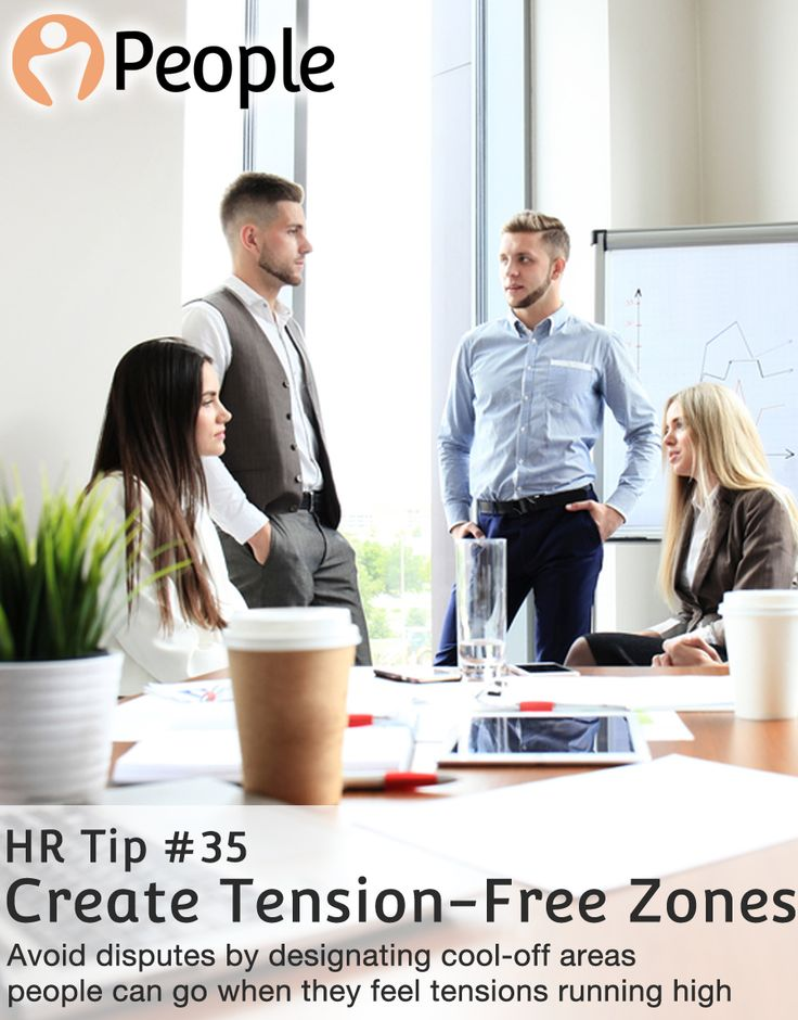 """Reduce tension by designating """"cool"""" zones where people can reflect when things get tough.  #HRtips #HRadvice #HRMS"""