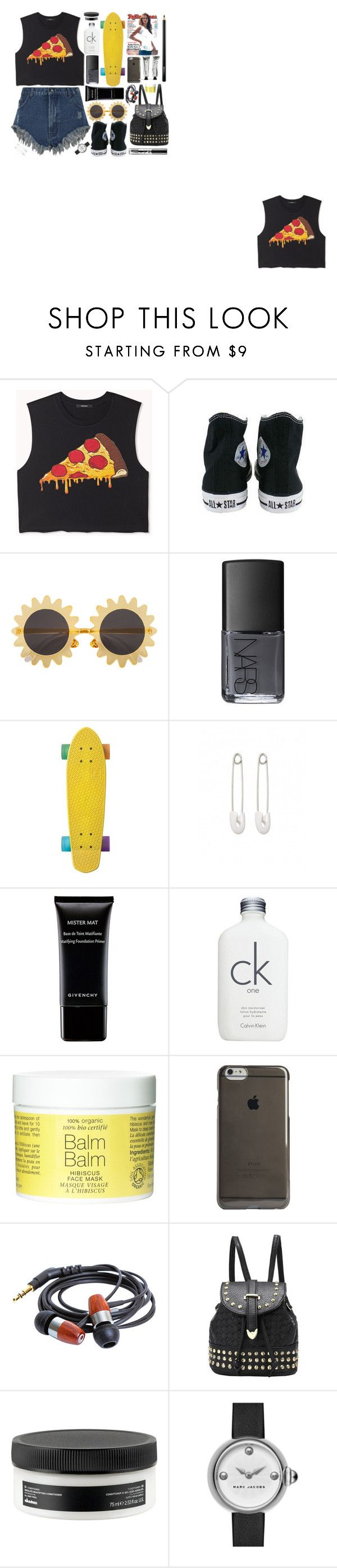 """Lunchtime"" by swanniboo on Polyvore featuring Forever 21, Converse, H&M, NARS Cosmetics, Kristin Cavallari, Givenchy, Calvin Klein, Agent 18, Davines and Marc by Marc Jacobs"