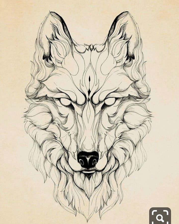 Image May Contain Drawing Geometric Wolf Tattoo Wolf Drawing Tattoo Geometric Wolf