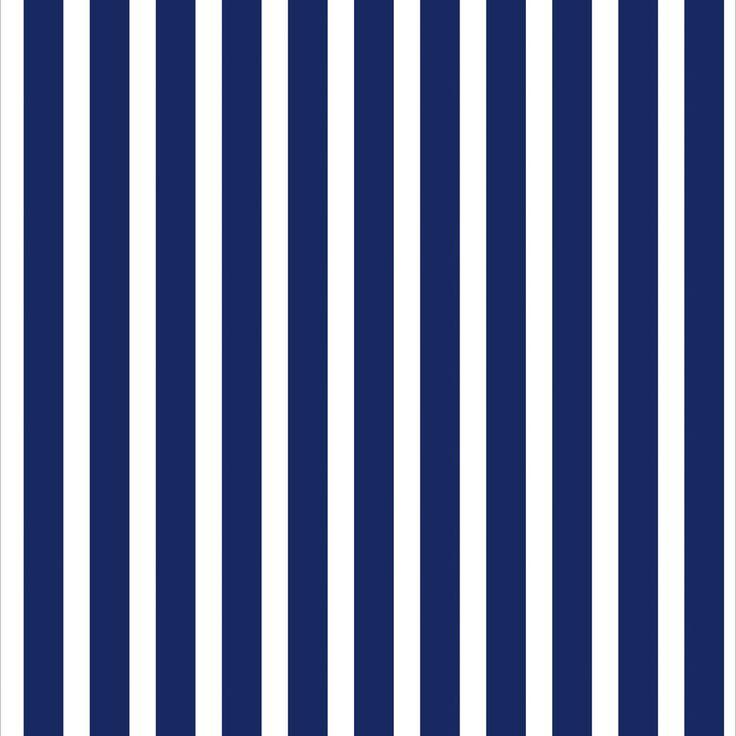 Papel de Parede Listrado em Azul Marinho Sobre Branco - Papel de Parede Digital