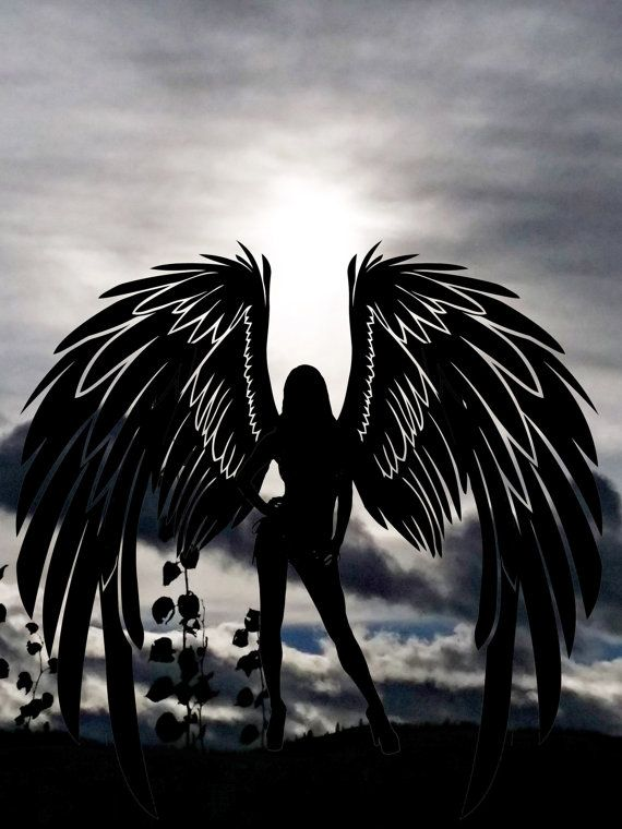 Angel silhouette sunset photography art by DigitalGraphicsShop