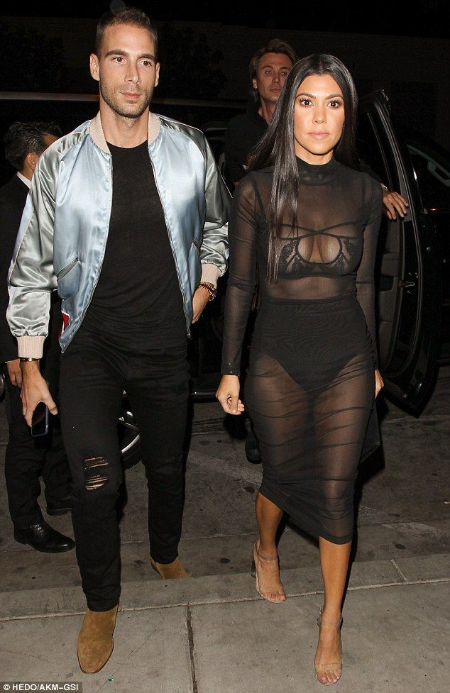 Kour blimey! Kourtney Kardashian treated West Hollywood to an unrestricted view of her bra and panties on Friday night