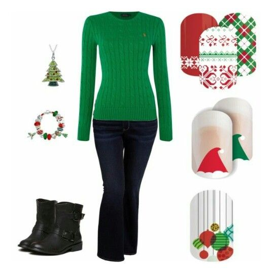 Epp! HOLIDAY nails & outfit combos