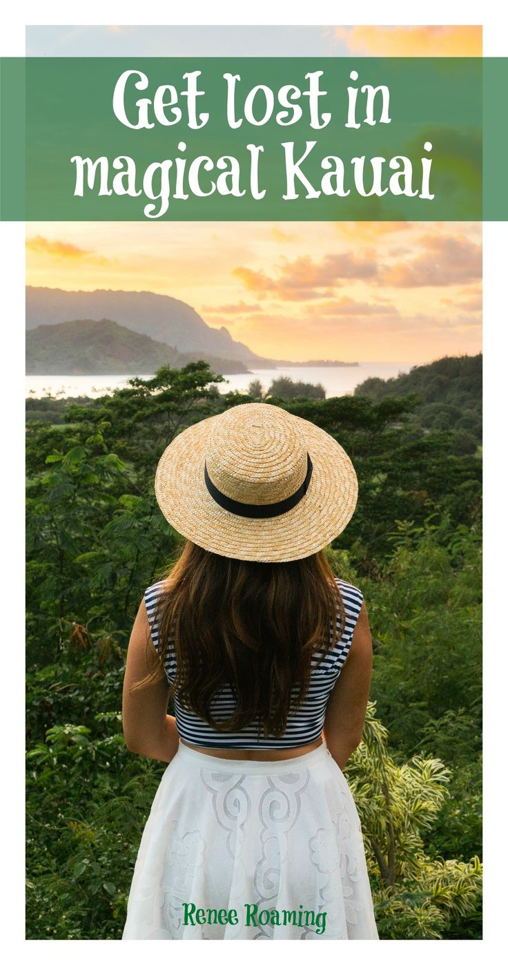 Get lost in magical Kauai. Read more for tips on activities, adventures, food, accommodation & destination advice. Renee Roaming - http://wwww.reneeroaming.com. Travel / Wanderlust / Dream Destination / Bucket List / Hawaii / Romantic / Couple Travel