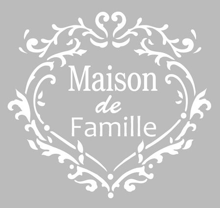 pochoir adh sif 20 x 20 cm coeur maison de famille d coupe silhouette portrait pinterest. Black Bedroom Furniture Sets. Home Design Ideas