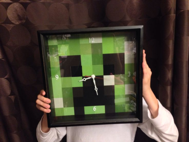 I just made my first clock for my son's Minecraft bedroom!