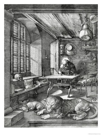 The original librarian? St. Jerome in His Study, Durer