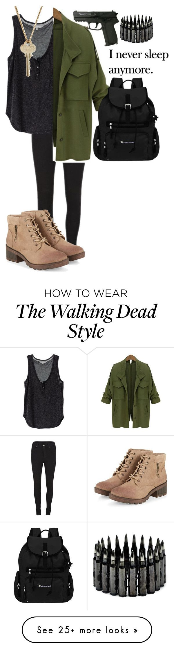 """Walking dead look"" by boobear1707 on Polyvore featuring Cheap Monday, The Giving Keys and Sherpani"