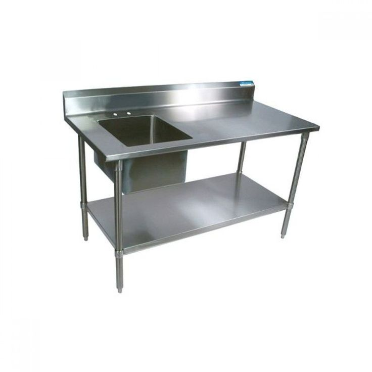 BK Resources BKPT-3060G-L Stainless Steel Work Table w ...