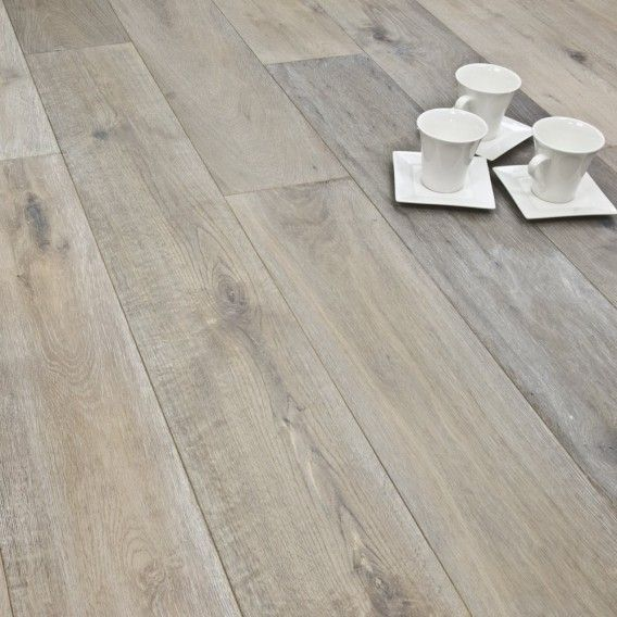190mm White Smoked Brushed and Oiled Engineered European Oak Wood Flooring 15/4mm Thick - White Washed Wood Flooring - Finish - Engineered Flooring