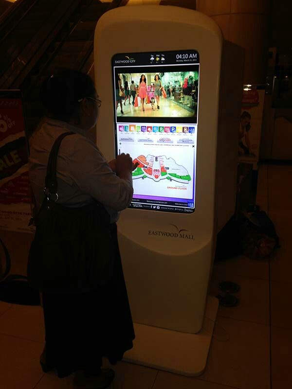 Interactive Digital Directory with 3D Wayfinder at Eastwood Mall, Eastwood City, Quezon City Philippines #interactivedigitalsignage #interactive #digitalsigange #digital #display #led #lcd #signage #wayfinding #monitor #touch #touchscreen #directory #digitaldirectory #wayfindingdirectory #wayfindingsignage #kiosk