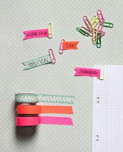 Washi paper clips - adorable!