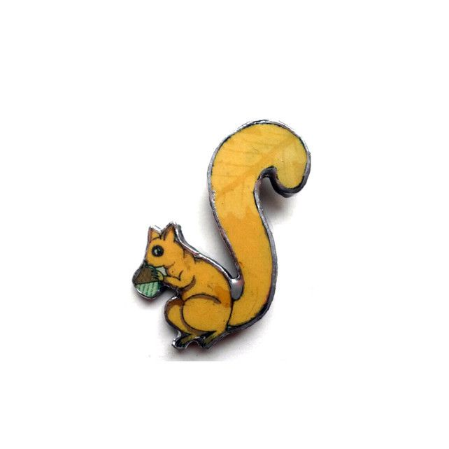 Whimsical Squirrel Brooch by EllyMental Jewellery £13.00
