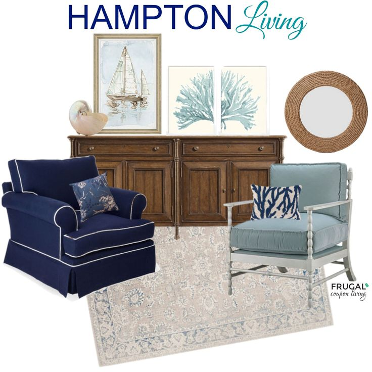 Looking to spruce up your living space? Check out this Hampton Inspired Living Room on Frugal Coupon Living.