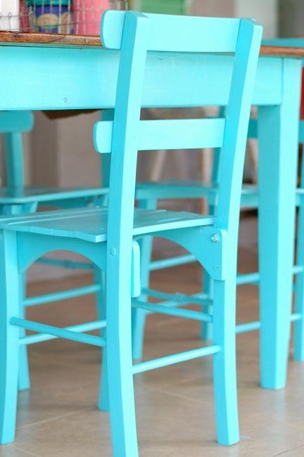 Mesa y sillas de campo - Antes y después: My Fun Time