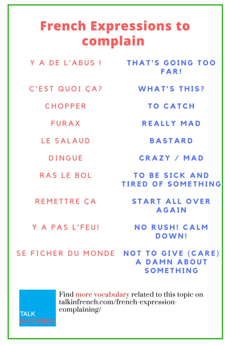 Do you know how to complain in French? If not, learn here! You can also download the list in PDF format for free! Check inside: https://www.talkinfrench.com/french-expression-complaining/