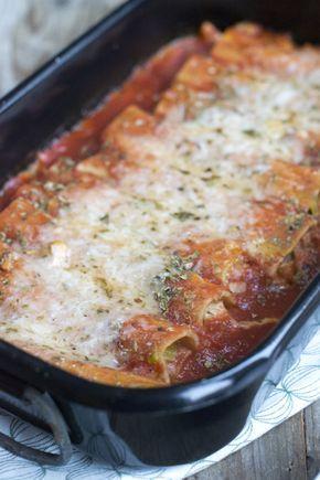 Cannelloni met kip, parmaham en tomatensaus
