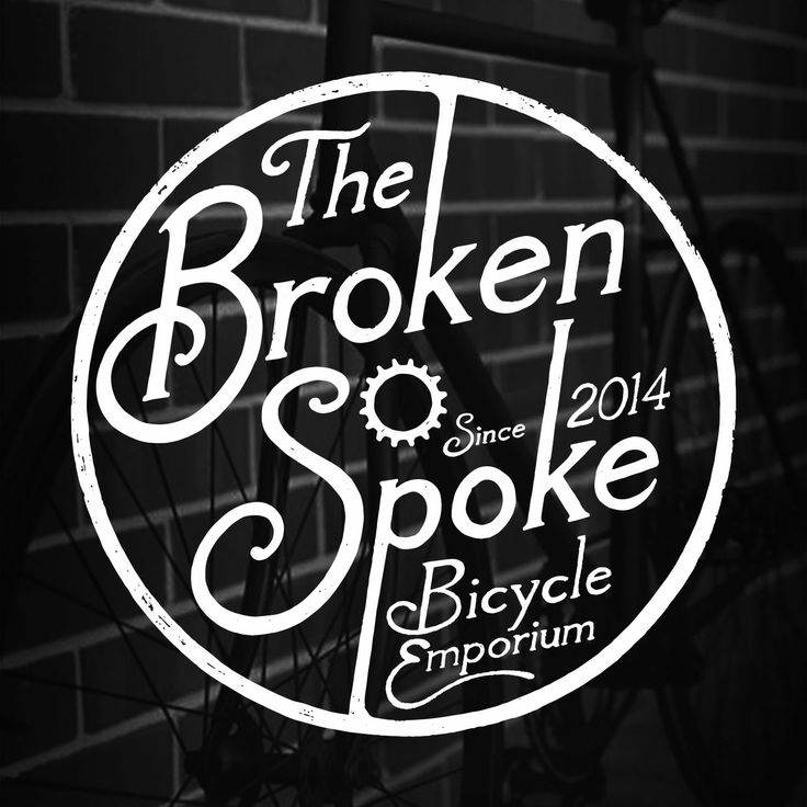 Broken spoke bicycle emporium logo design. Squishier project. vintage, fixed, bike shop, typography, hand drawn, lettering, graphic design, illustration, type, spoke, broken spoke, fixie, bicycle