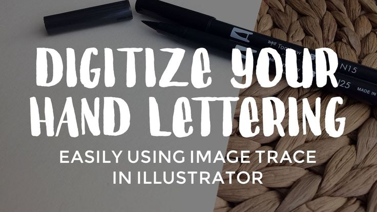 Learn how to quickly digitize hand lettering and calligraphy using the Image Trace tool in Illustrator.