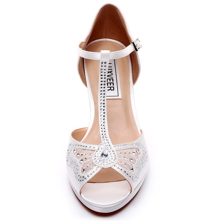 19 best LUXVEER Women Wedding Sandals with Silver Rhinestone and ...