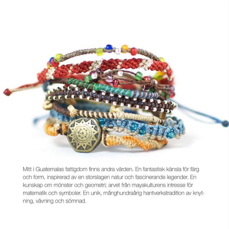 #Wakami 8-strand #fairtrade #bracelet, distributed in Sweden by Masomenos AB. 294:-