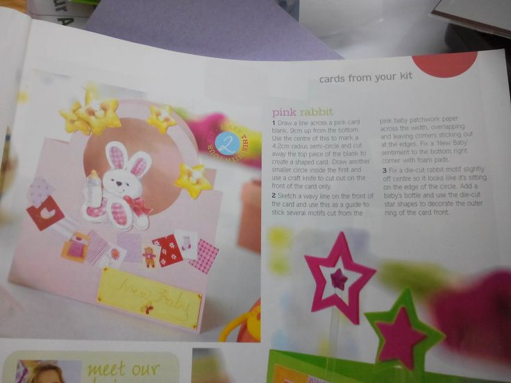 Baby girl card have all embellishments