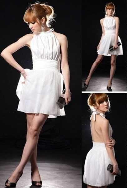 White Halter Cocktail Dress (#2012527)      White Halter Cocktail Dress      - Brand new   - Satin top   - Halterneck style   - Ties at back   - Open back design   - Folded waist design   - Mesh skirt   - Soft lining      Measurements:   Bust: free   Waist: 62cm - 68cm   Hips: free   Length: 76cm      Size: 6 - 8 $19.99 NZD