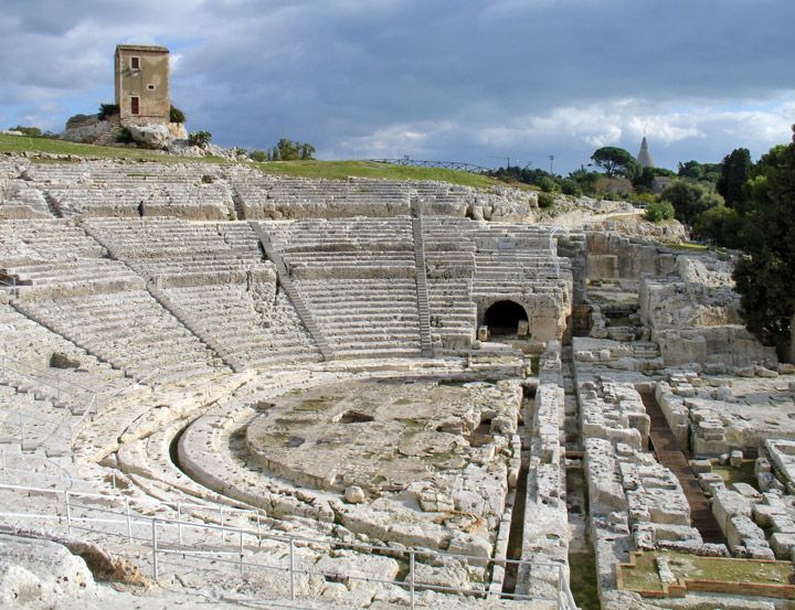 Greek Theater in Syracuse, Sicily, Italy. Must explore Italy someday!