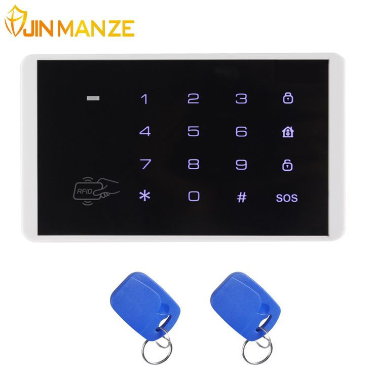 New K16 Wireless RFID Card Touch Keypad for PSTN GSM Alarm Systems Burglar Access Control System Wireless Password Keypad