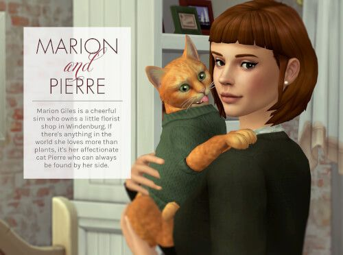 Marion Giles & Pierre the Cat Sims for The Sims 4