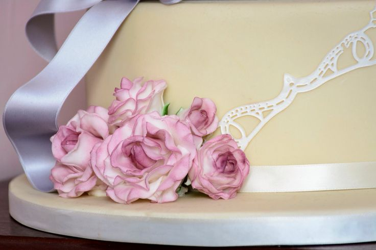 Beautiful hand sculpted sugar roses