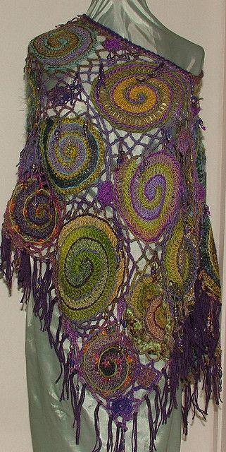 """Freeform Crochet Poncho""...pattern in Freeform Crochet & Beyond."