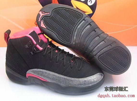 Air Jordan 12 Womens Fashion 510815 008 Air Jordan XII Retro GS Black Siren  Red 6e444a36b