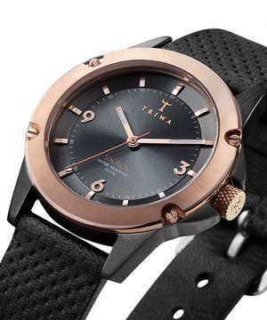 高級感漂う革ベルトの腕時計 ブランド。TRIWA。